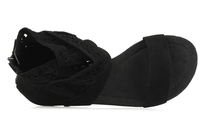Sandales et nu-pieds Latinas Holly Noir vue gauche
