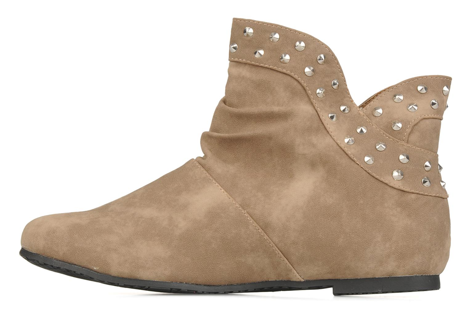 Ankle boots Latinas Botin Beige front view
