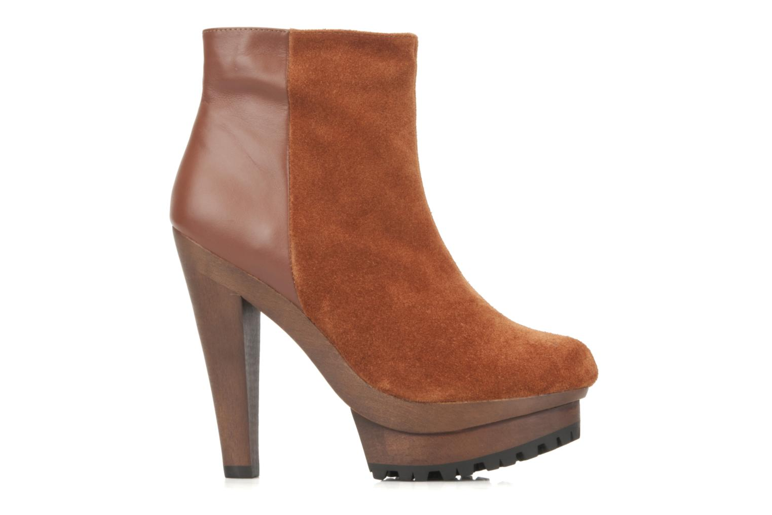 Ankle boots Friis & company Beata Brown back view