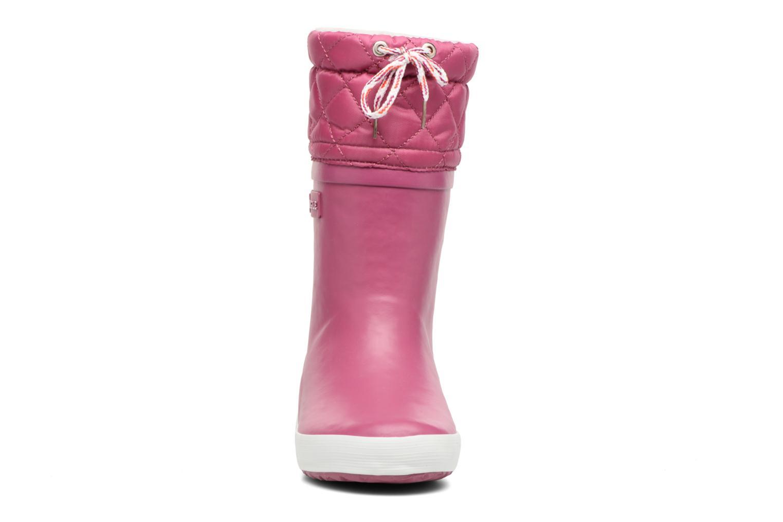 Bottes Aigle Giboulée Violet vue portées chaussures