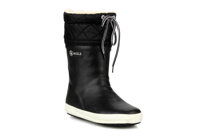 Støvler & gummistøvler Aigle Giboulée Sort detaljeret billede af skoene