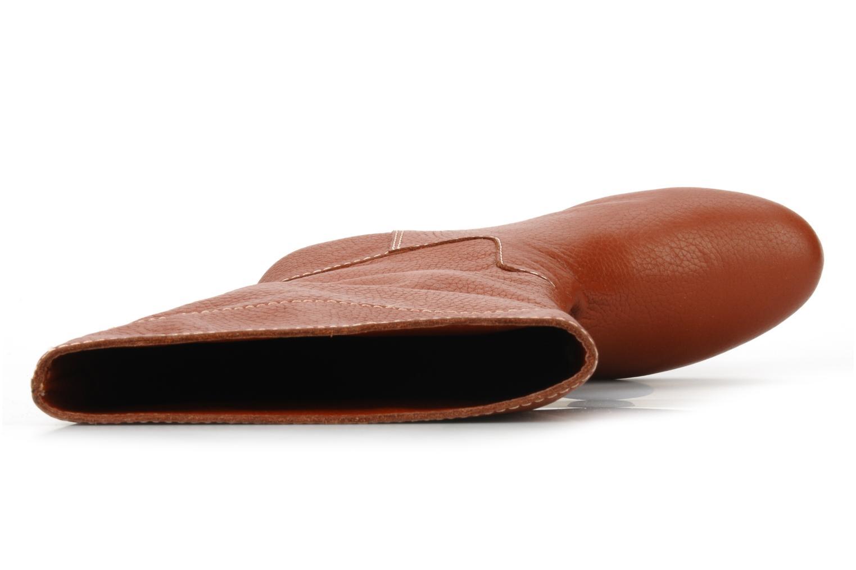 Orville Saddle brown pebble lea