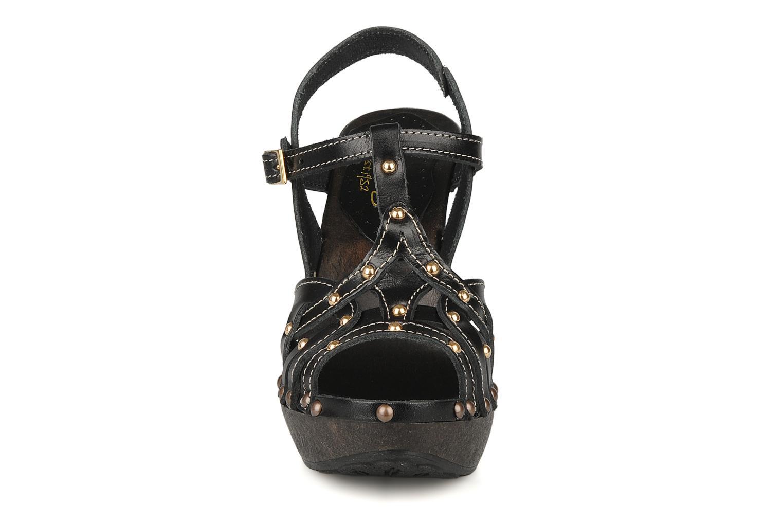 Sandalen Mustang shoes Ruy schwarz schuhe getragen