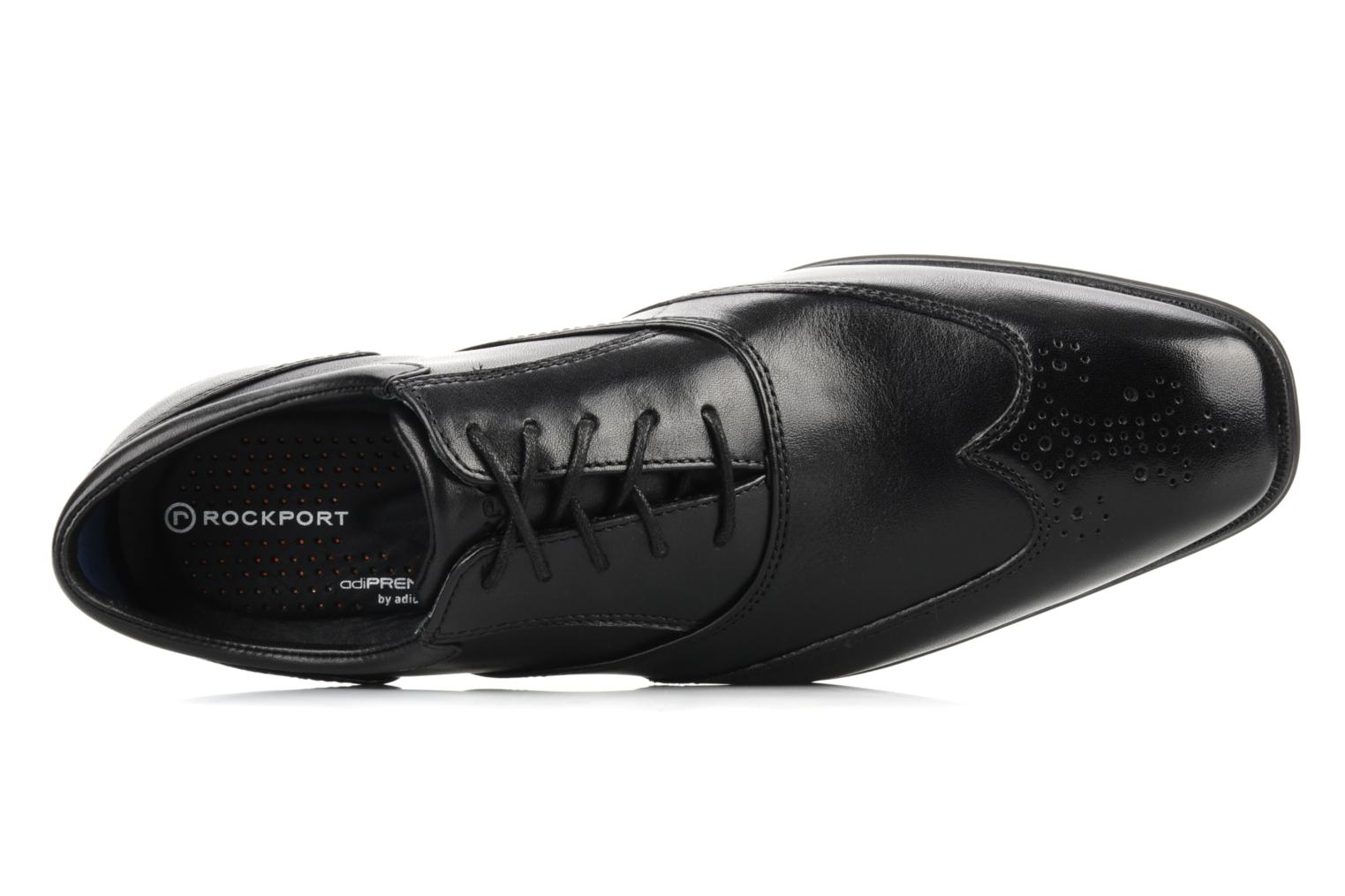Lace-up shoes Rockport Hillandale Black view from the left