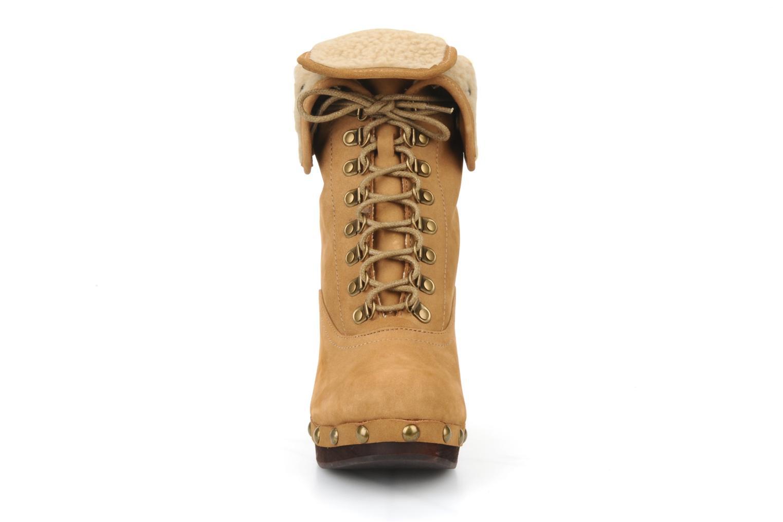 Stiefeletten & Boots No Name Mikonos boots fur beige ansicht von vorne