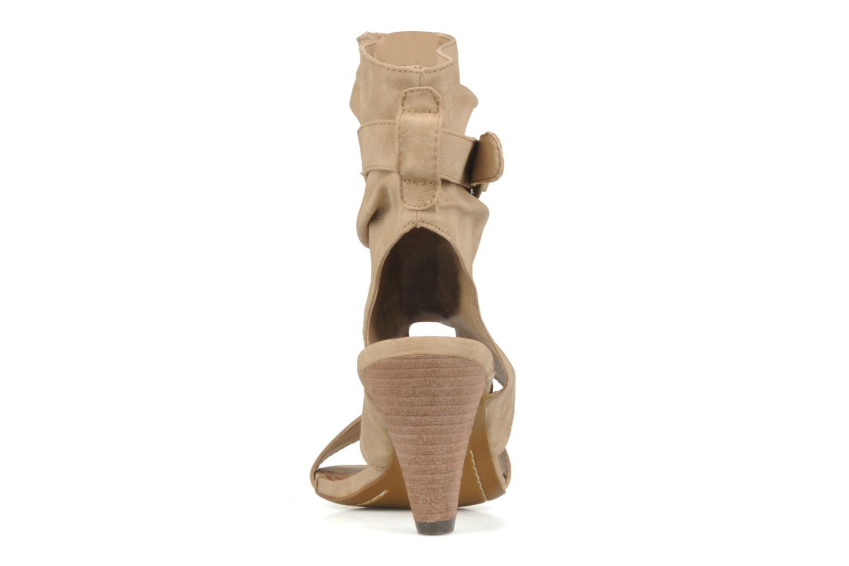 Sandales et nu-pieds Spot On Marila Beige vue droite