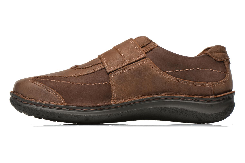 Velcro shoes Josef Seibel Alec Brown front view