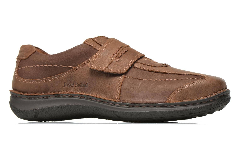 Velcro shoes Josef Seibel Alec Brown back view