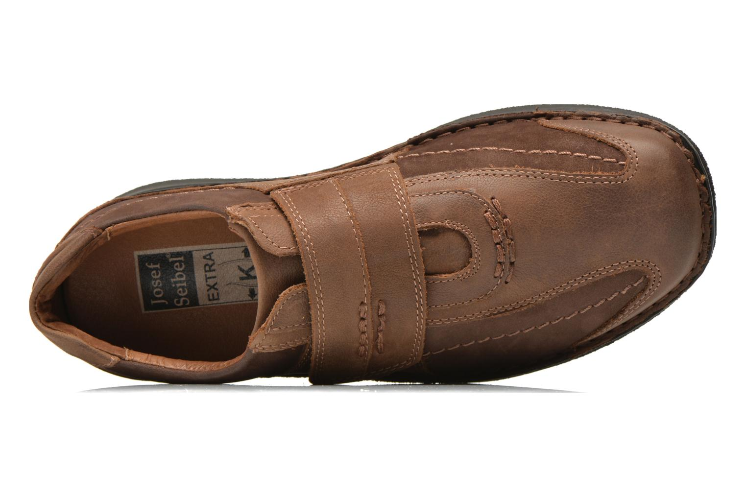 Velcro shoes Josef Seibel Alec Brown view from the left
