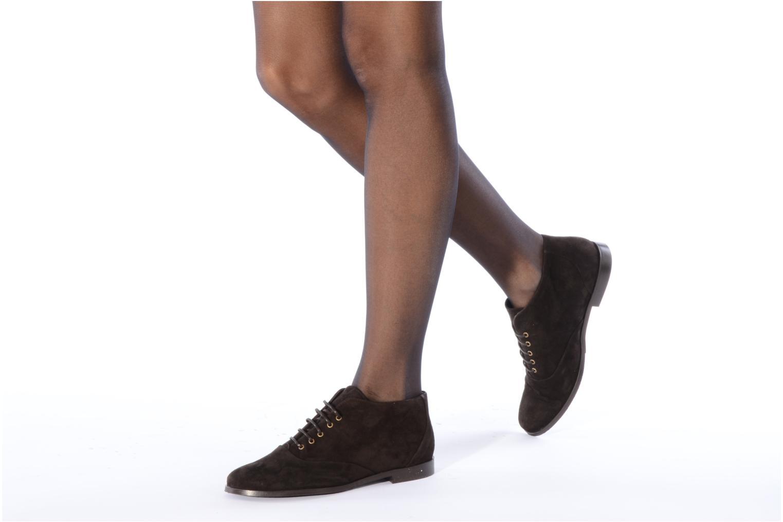 Bottines et boots Georgia Rose Nonou Marron vue bas / vue portée sac