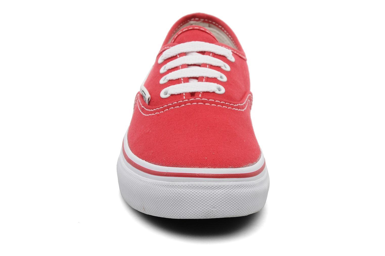 Sneaker Vans Authentic E rot schuhe getragen