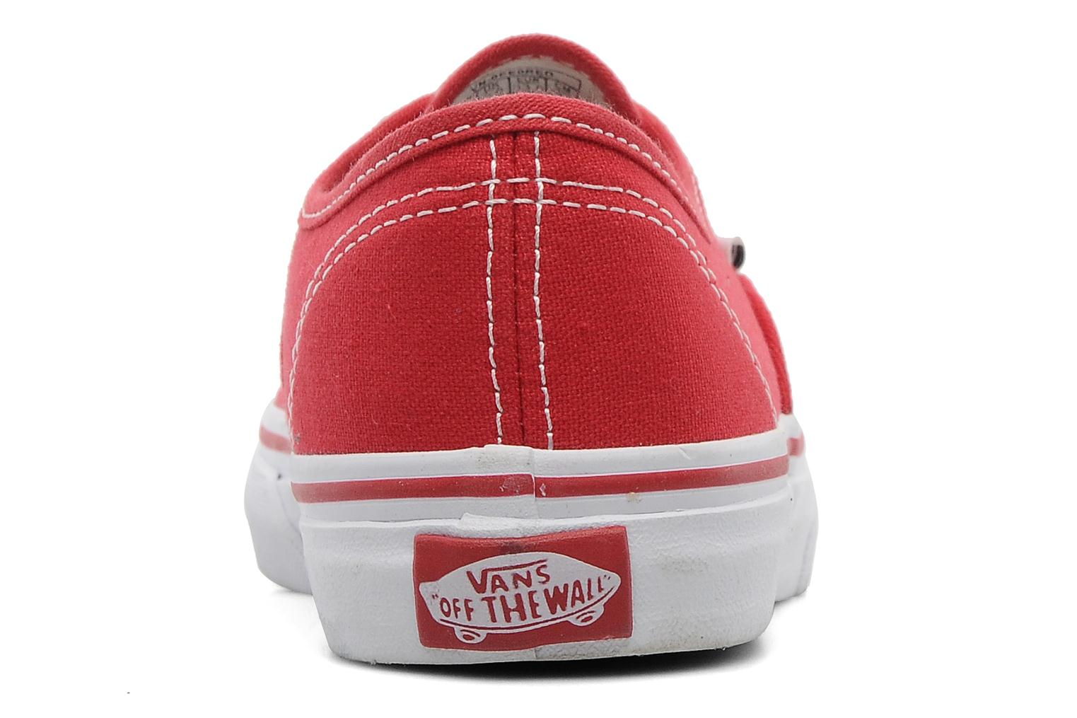 Trainers Vans Authentic E Red view from the right