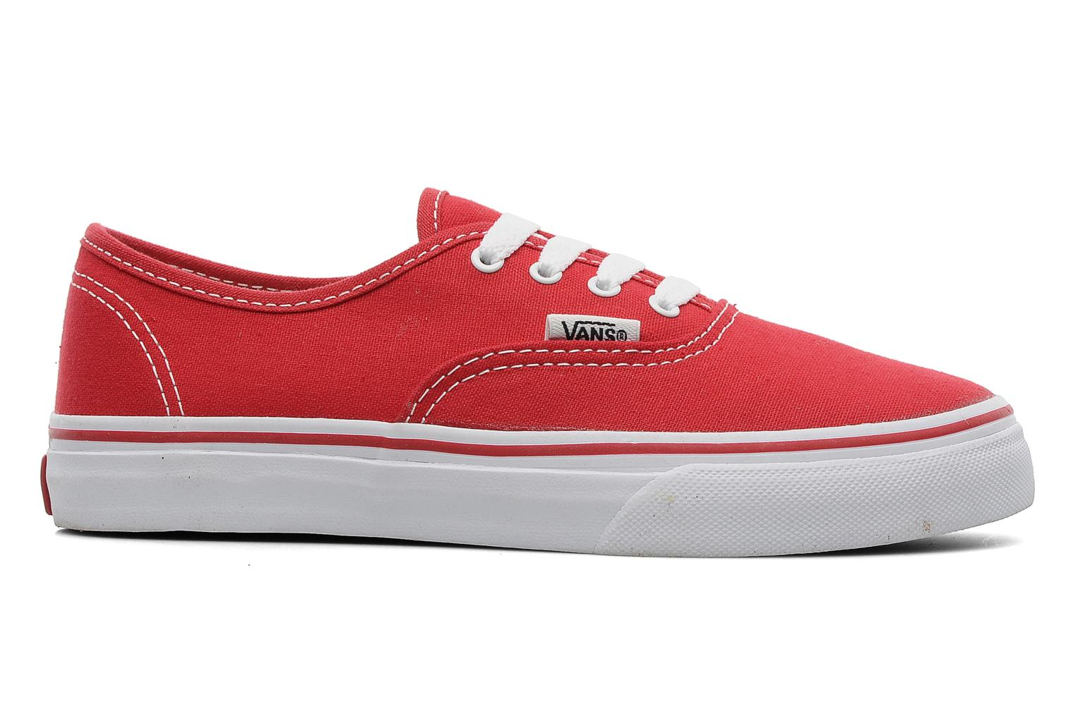 Trainers Vans Authentic E Red back view