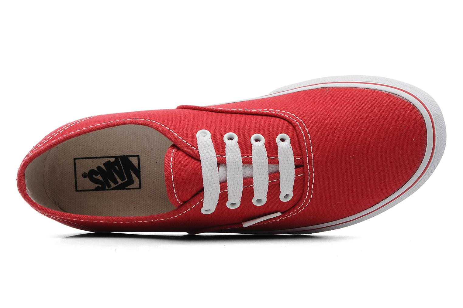 Trainers Vans Authentic E Red view from the left