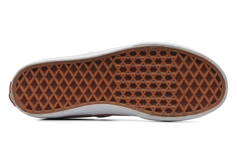 Sneaker Vans Authentic E rot ansicht von oben
