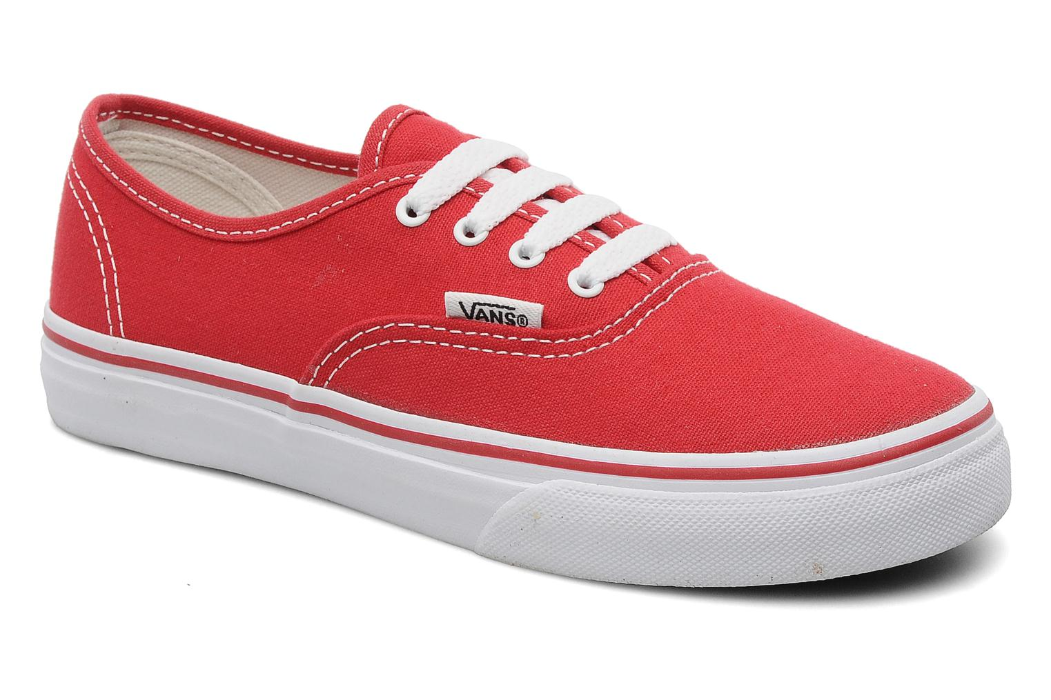 Trainers Vans Authentic E Red detailed view/ Pair view