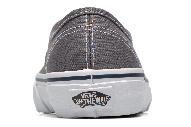 Baskets Vans Authentic E Gris vue droite