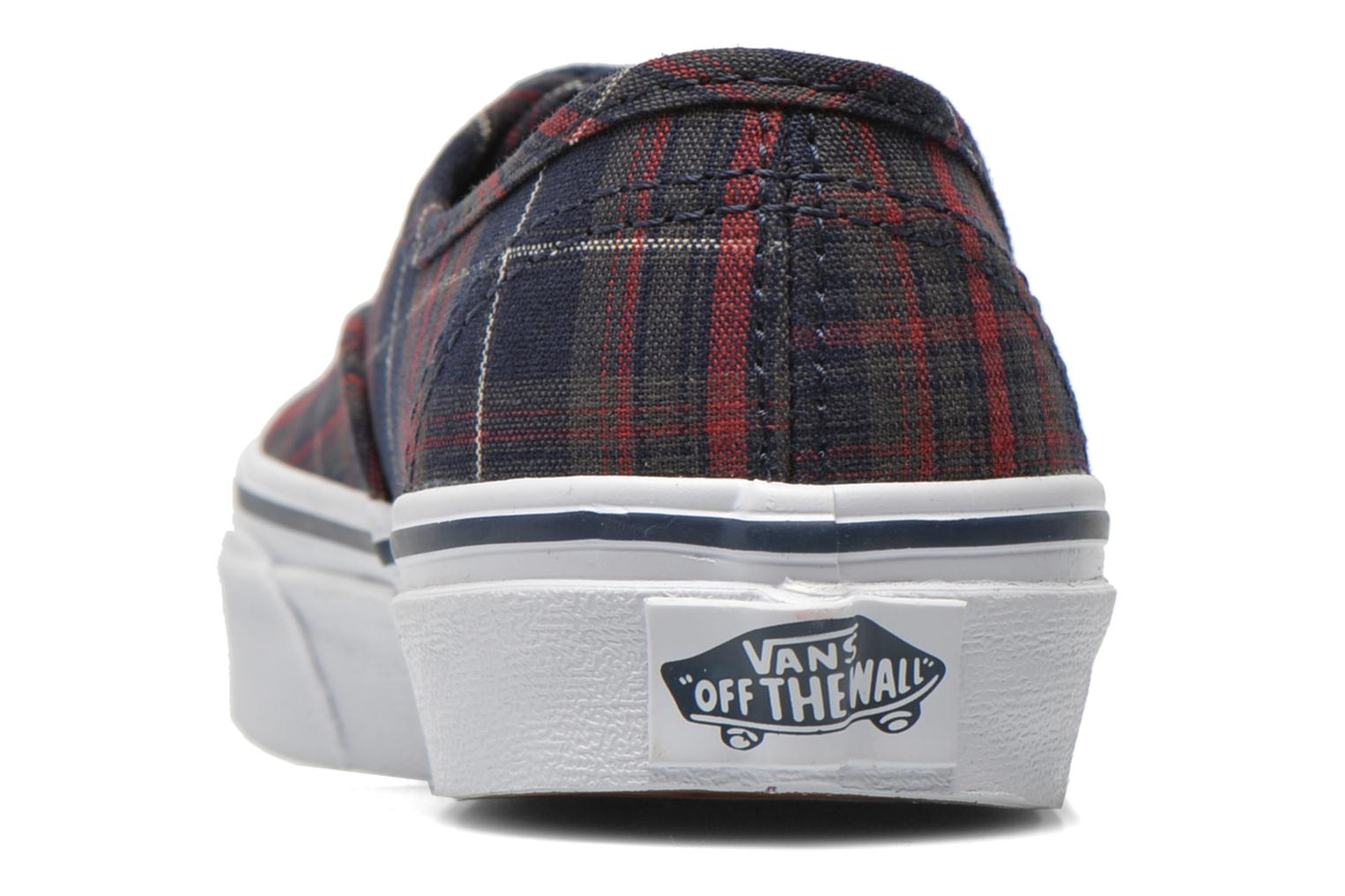 Baskets Vans Authentic E Bleu vue droite