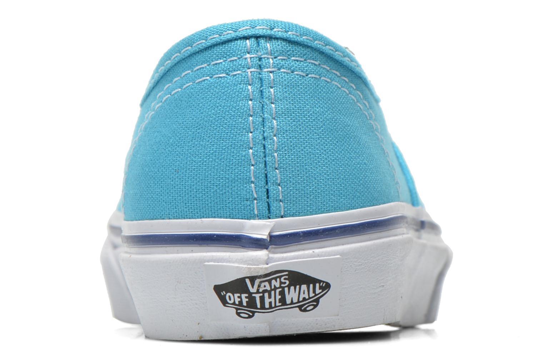 Deportivas Vans Authentic E Azul vista lateral derecha