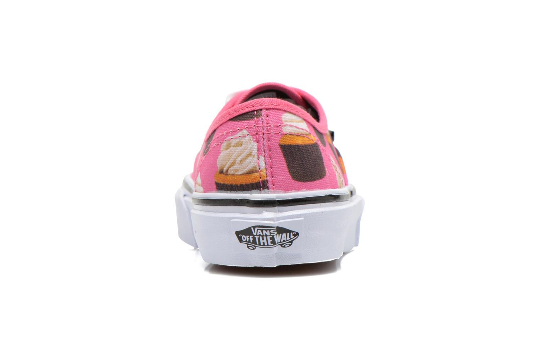 Baskets Vans Authentic E Rose vue droite