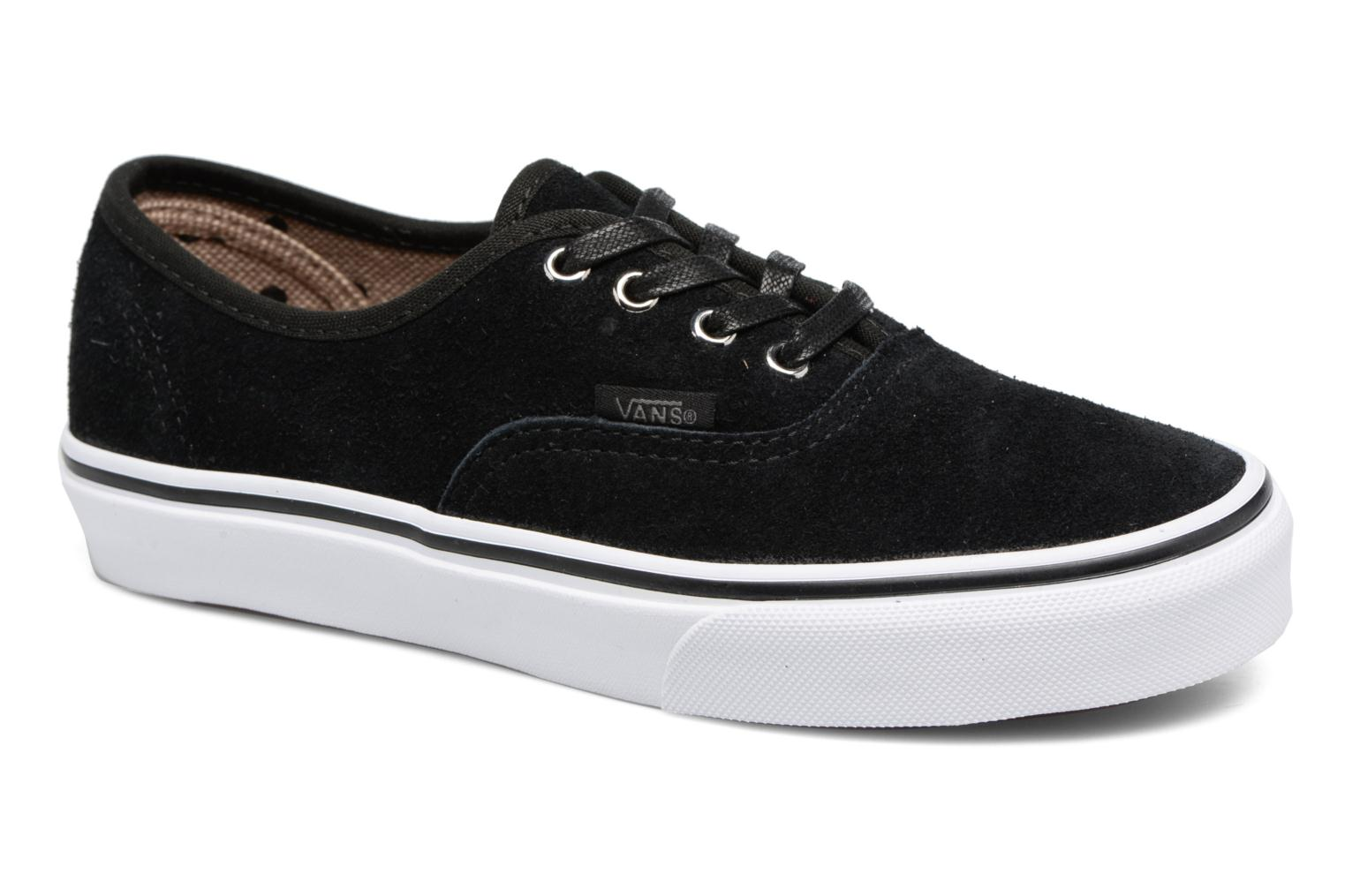 Baskets Vans Authentic E Noir vue détail/paire