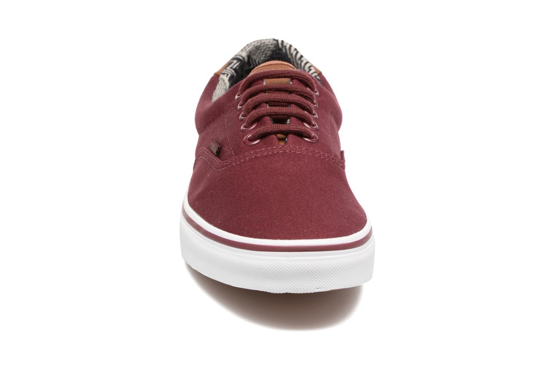 Baskets Vans Era 59 Bordeaux vue portées chaussures