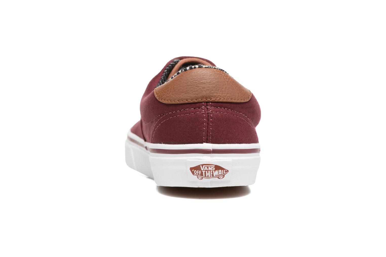 Sneaker Vans Era 59 weinrot ansicht von rechts