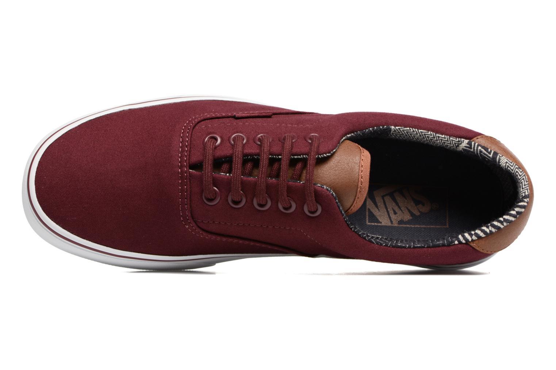 Sneakers Vans Era 59 Vinröd bild från vänster sidan