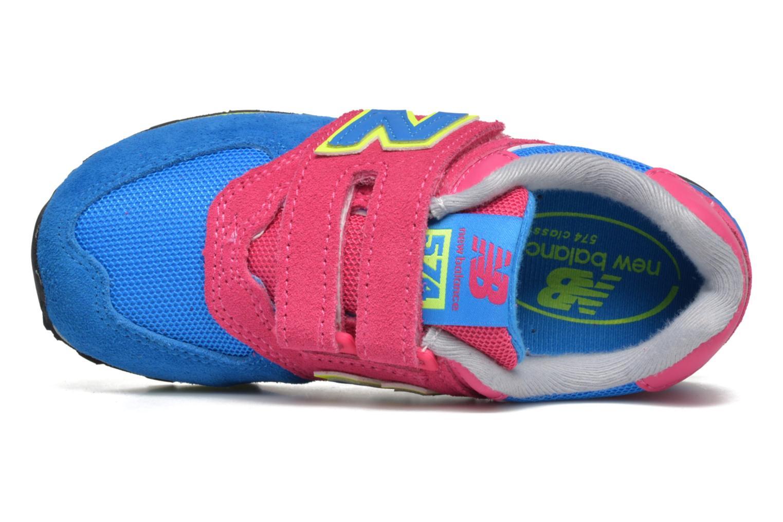 Sneaker New Balance Kv574NEI rosa ansicht von links