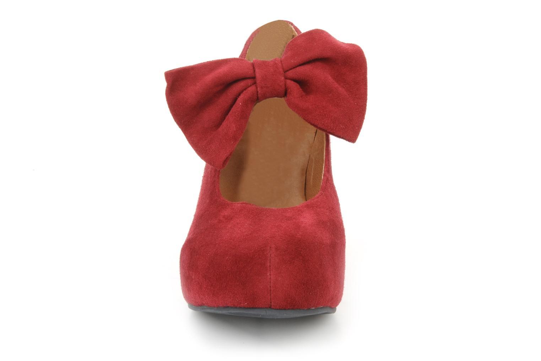High heels Jeffrey Campbell Papillon Burgundy model view