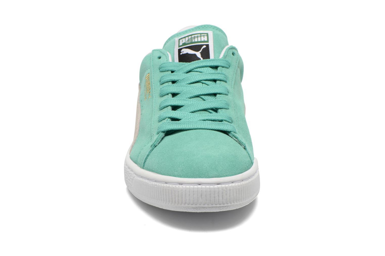 Baskets Puma Suede Classic + Vert vue portées chaussures