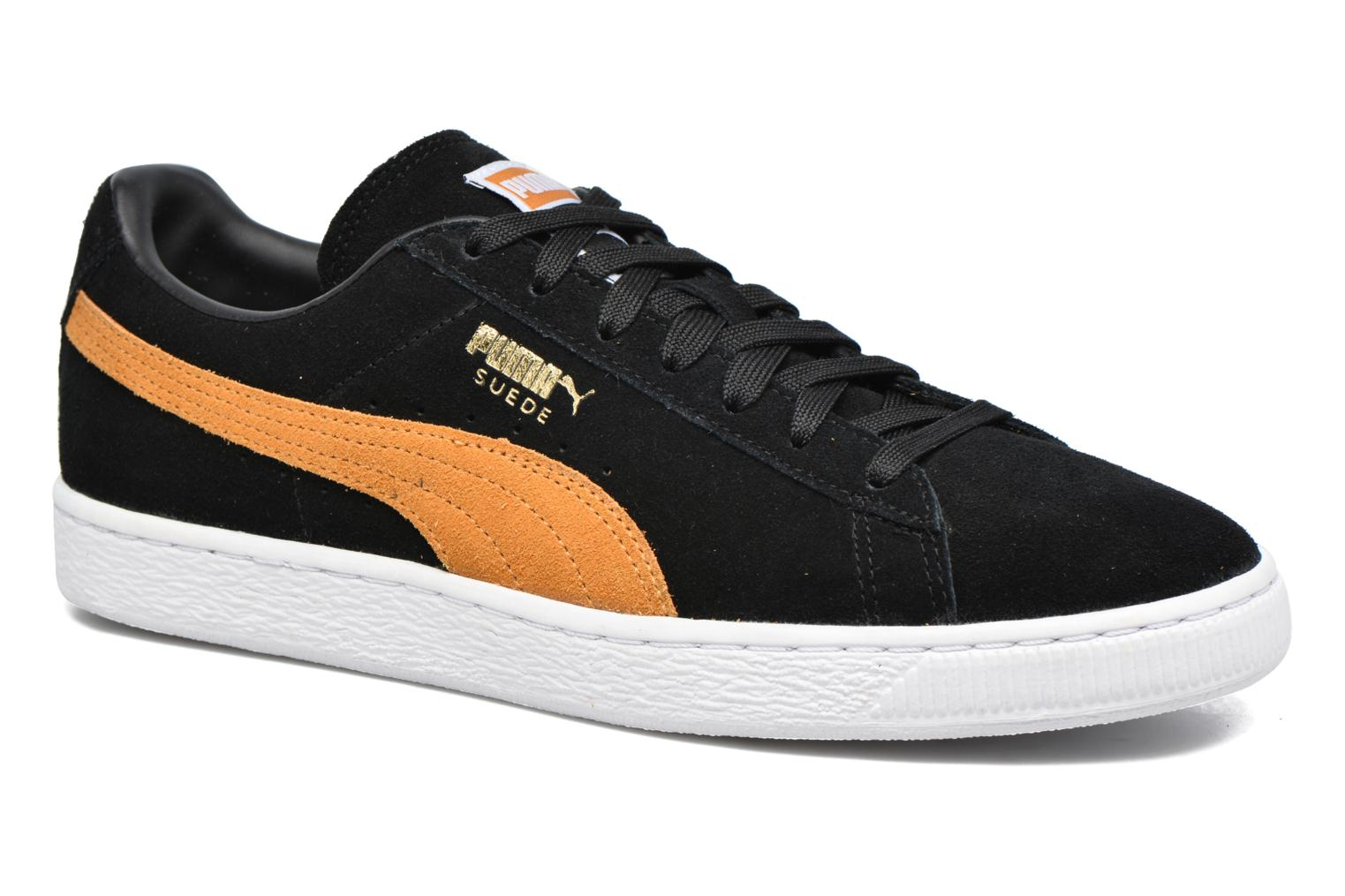 Suede Classic + Black/gold