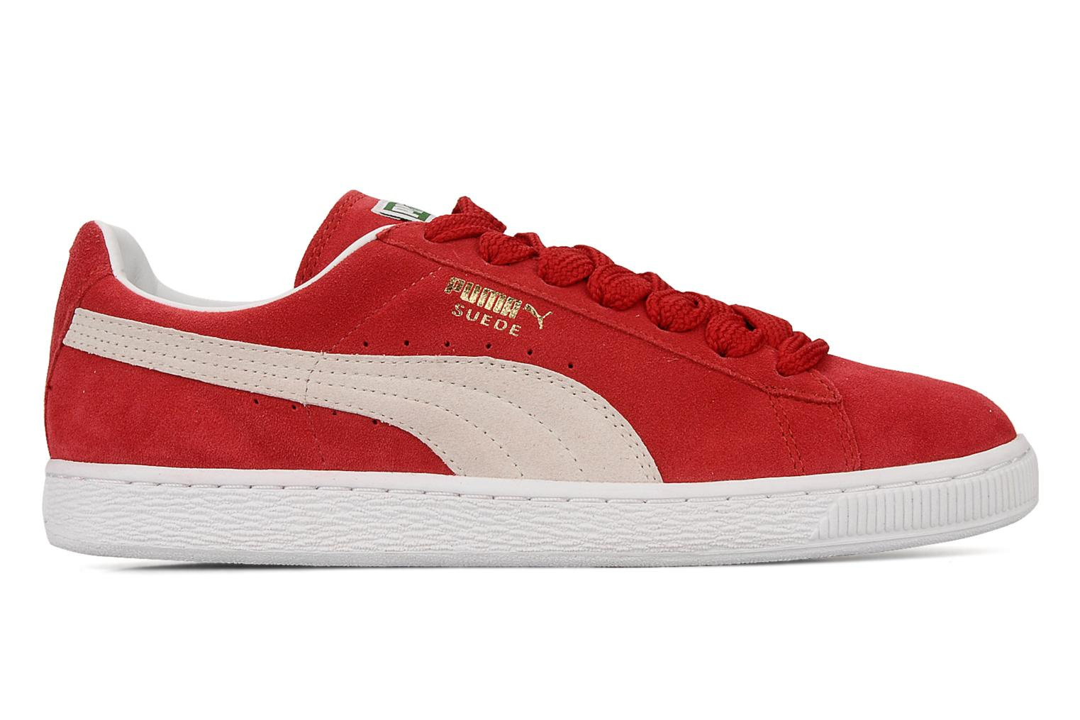 Sneakers Puma Suede Classic + Rood achterkant