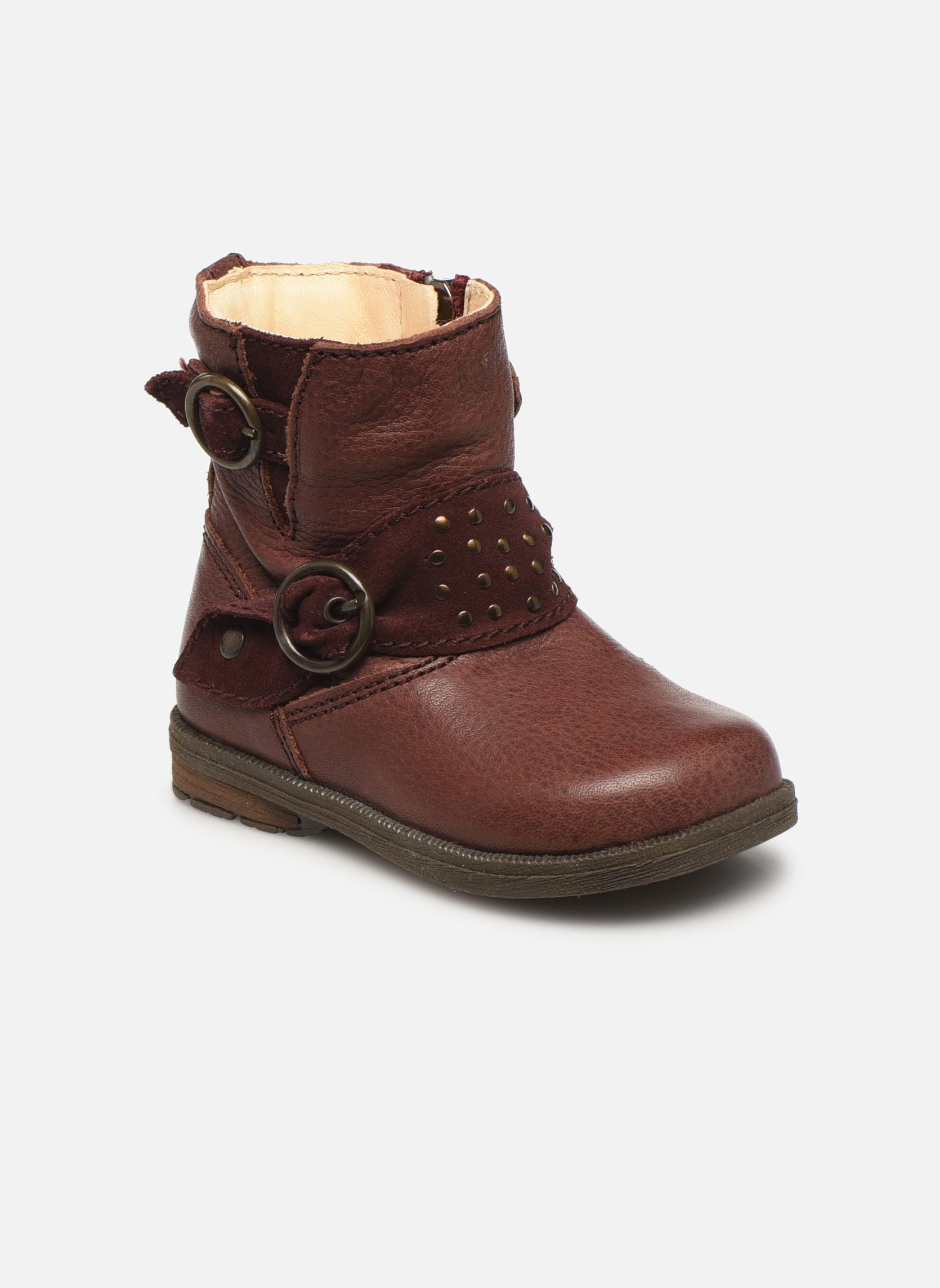 Bottines et boots Primigi Corinna Bordeaux vue détail/paire