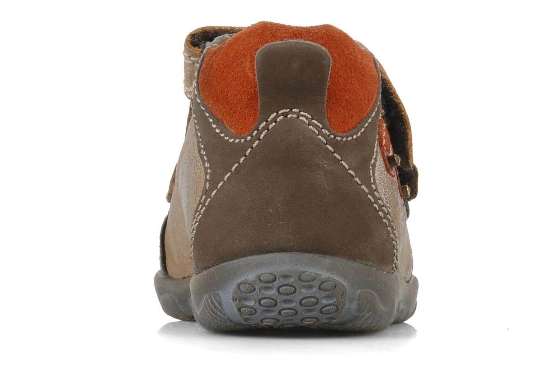 Chaussures à scratch Primigi Leroy Marron vue droite