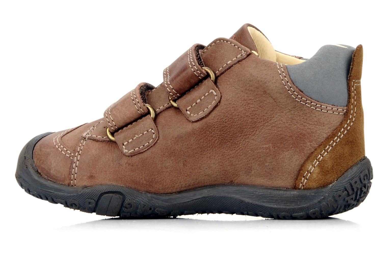 Zapatos con velcro Primigi Bartolom Marrón vista de frente