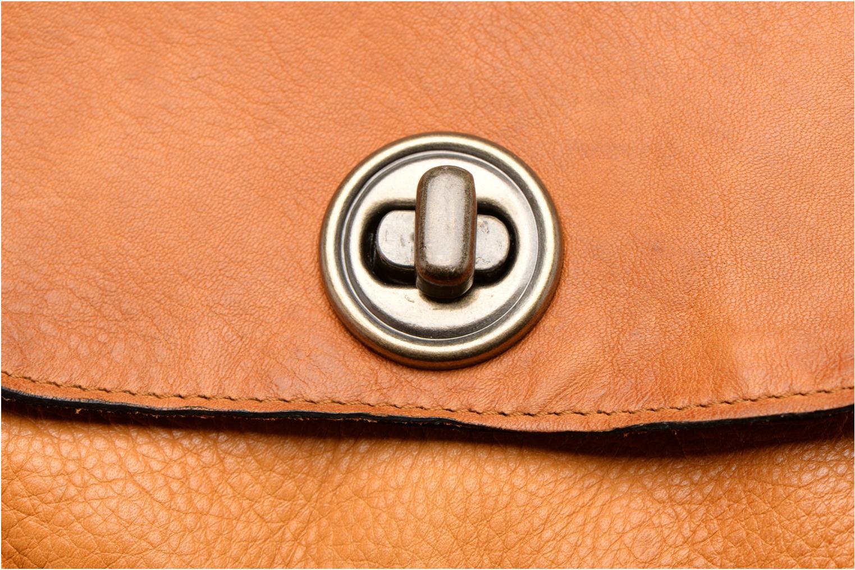 Sacs à main Pieces Totally Royal leather Small bag Marron vue gauche