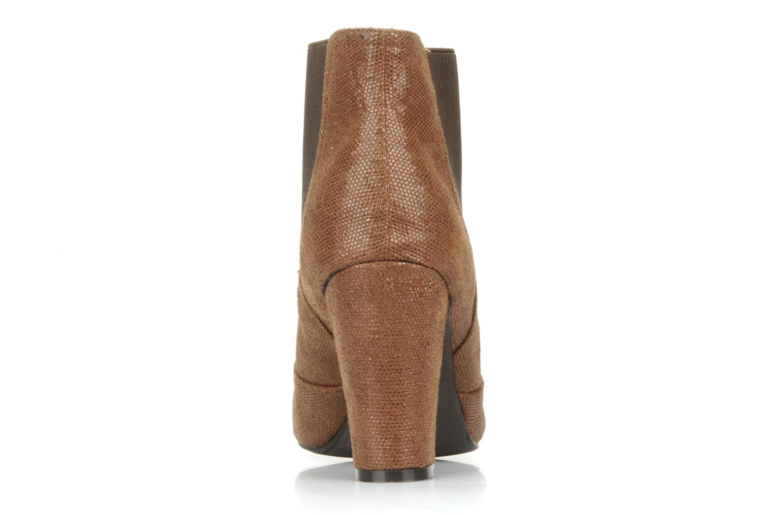 Ankle boots Georgia Rose Oliva Brown view from the right