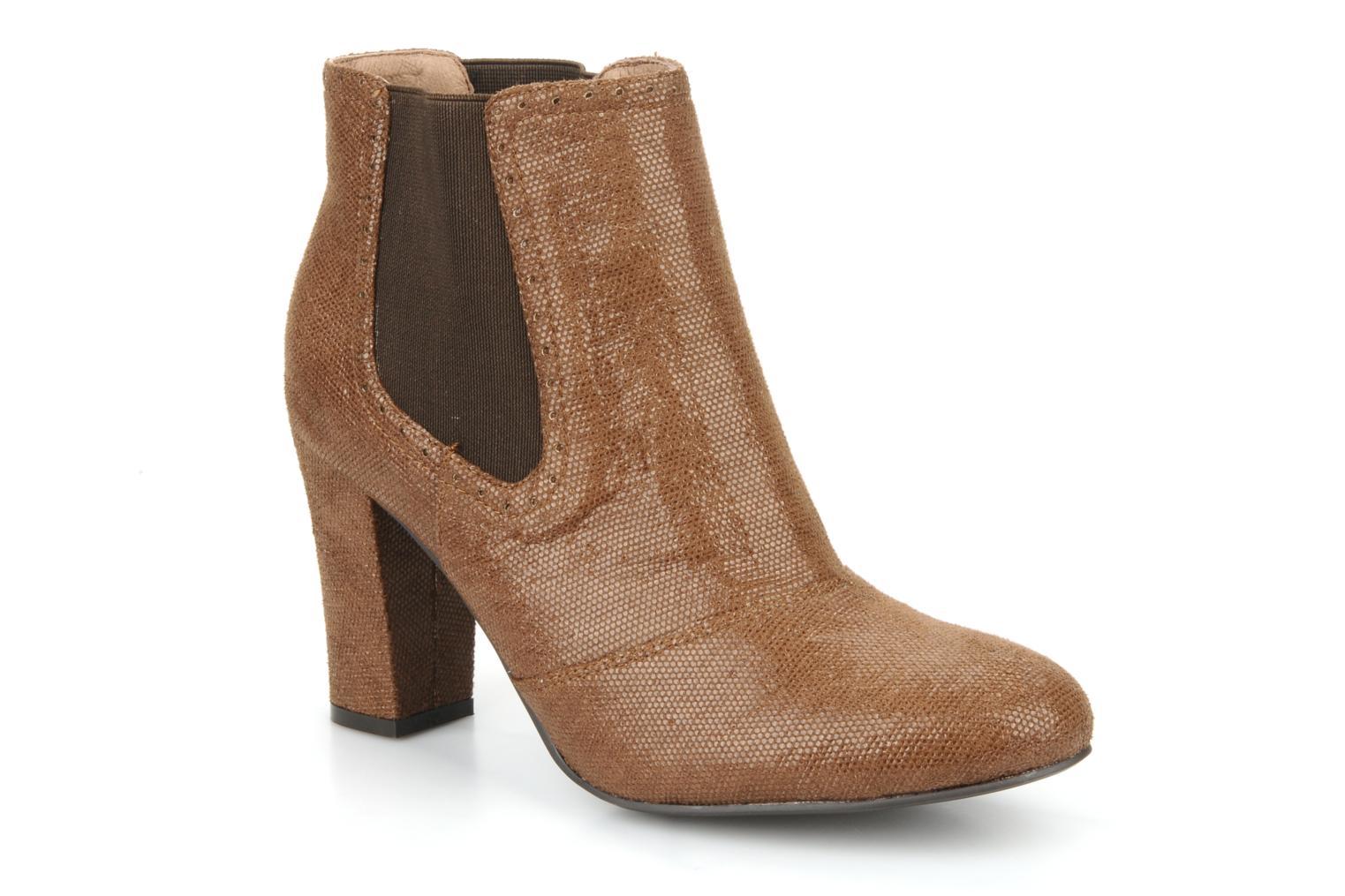 Boots en enkellaarsjes Georgia Rose Oliva Bruin detail