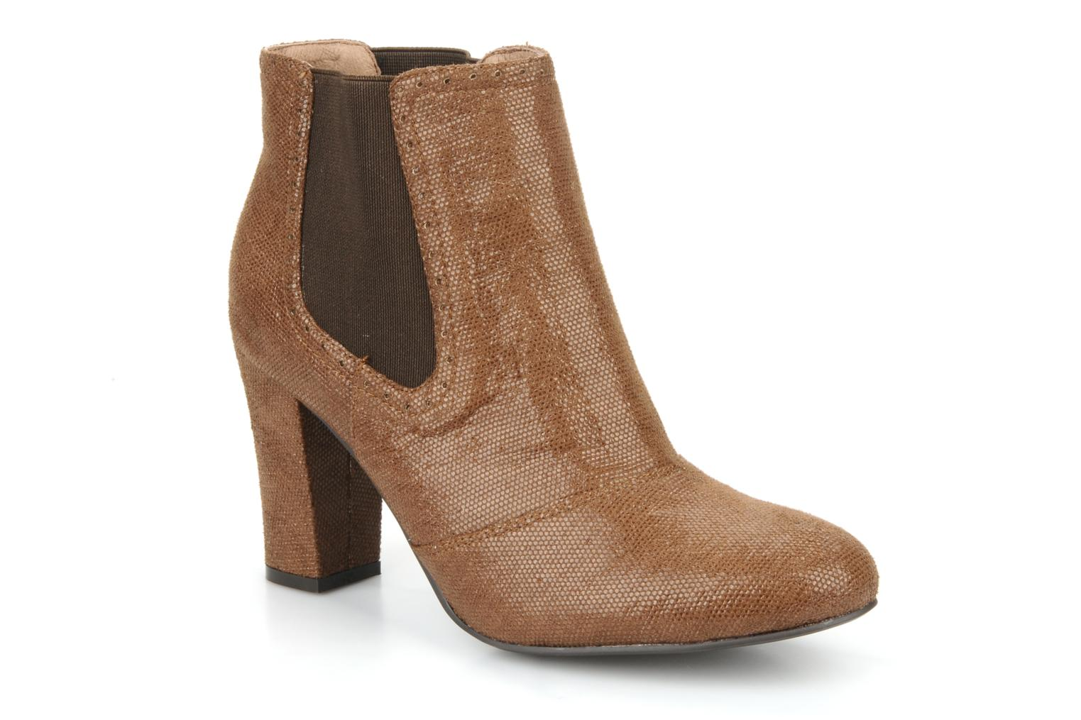 Ankle boots Georgia Rose Oliva Brown detailed view/ Pair view