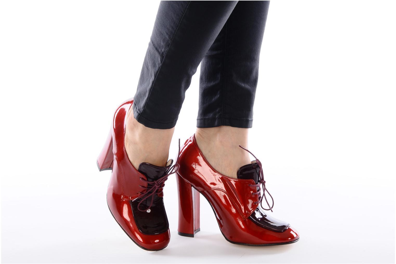 Chaussures à lacets Mellow Yellow Klipo Rouge vue bas / vue portée sac