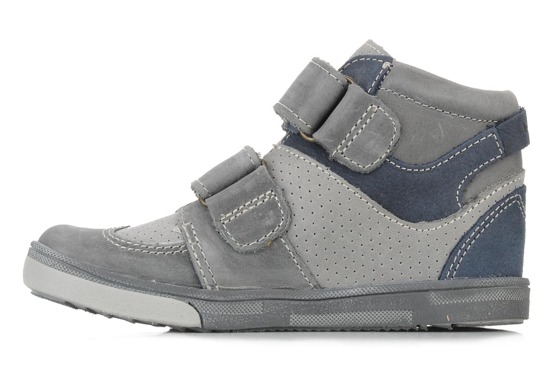 Chaussures à scratch Babybotte Ari Gris vue face