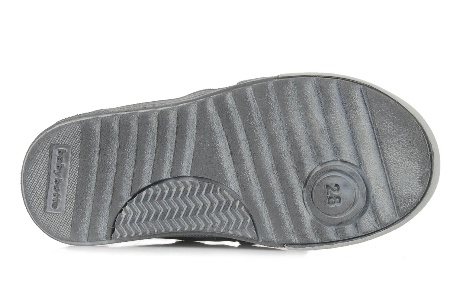 Velcro shoes Babybotte Ari Grey view from above