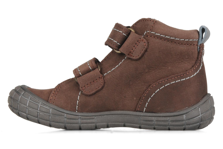 Zapatos con velcro Babybotte Axyon Marrón vista de frente