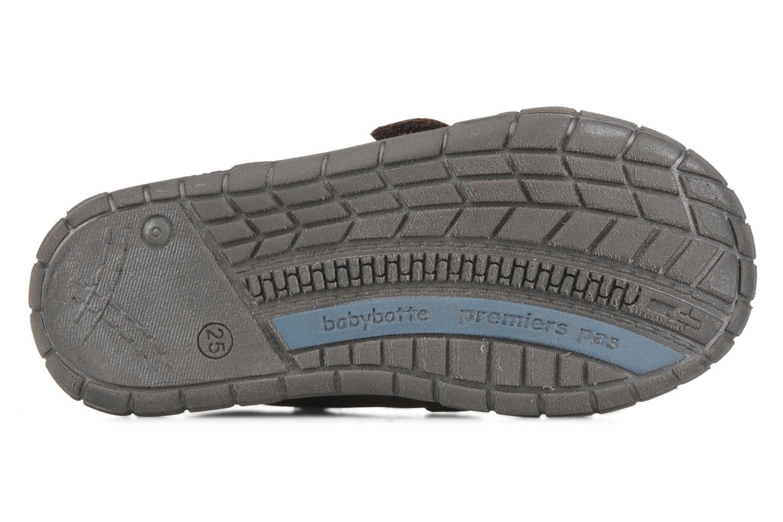 Zapatos con velcro Babybotte Axyon Marrón vista de arriba
