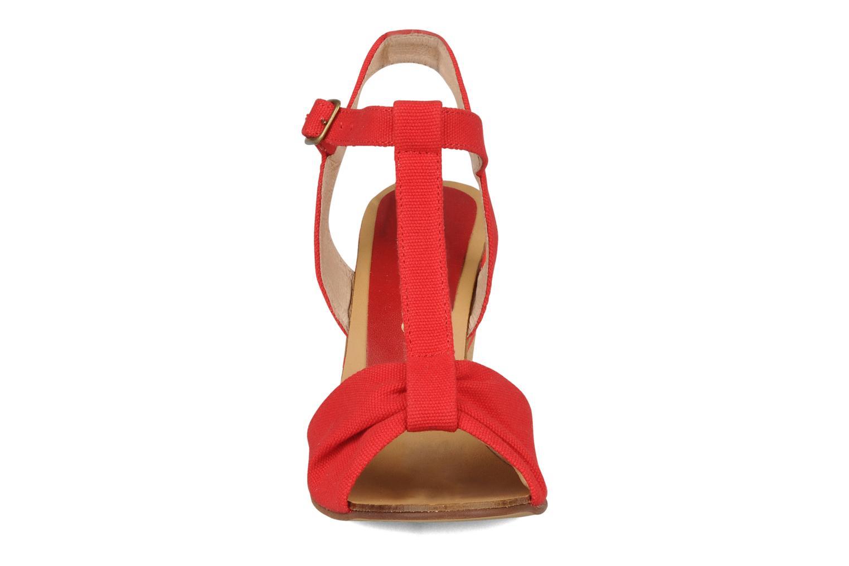 Sandales et nu-pieds Georgia Rose Dayana Rouge vue portées chaussures