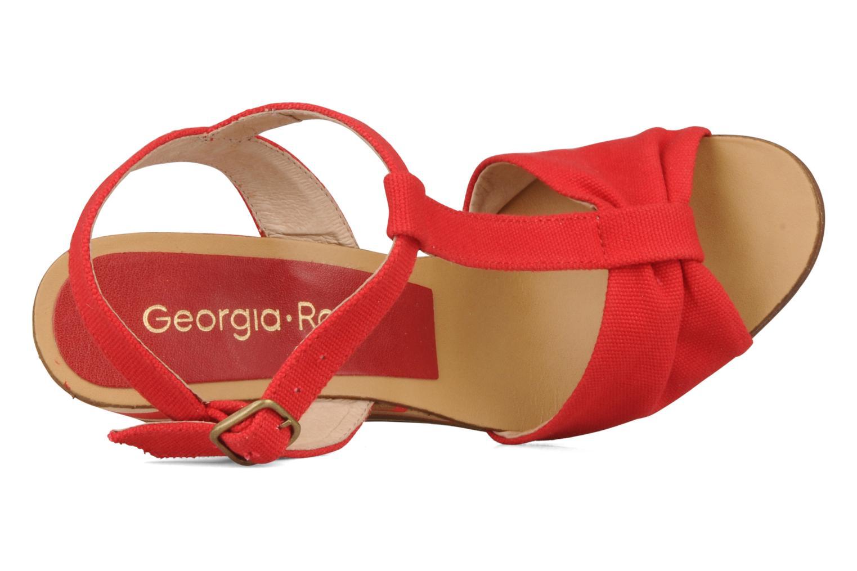 Sandales et nu-pieds Georgia Rose Dayana Rouge vue gauche