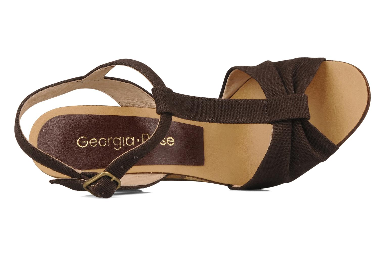 Sandales et nu-pieds Georgia Rose Dayana Marron vue gauche