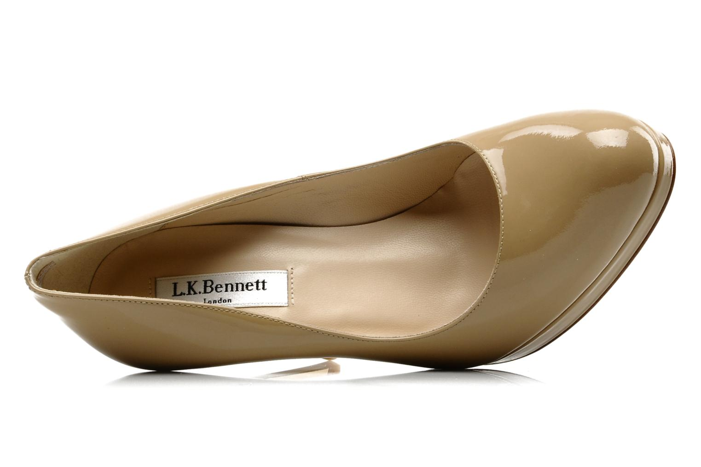 Zapatos de tacón L.K. Bennett Sledge Beige vista lateral izquierda