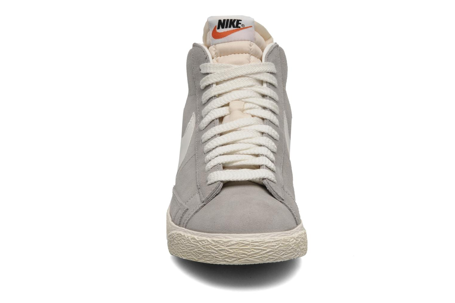 Trainers Nike Blazer mid prm Grey model view